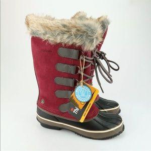 Northside Kathmandu faux fur winter boots Sz 6 M